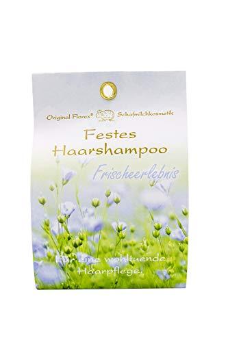 Champú fijo para el cabello 58 g con leche de oveja – experiencia fresca – empaquetado en bolsa de papel