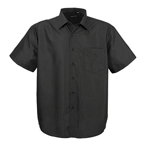 klassisches kurzarm Herrenhemd Übergröße Lavecchia Hka14-01 in Schwarz Gr. 3-7XL (7XL)