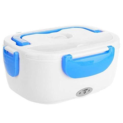 Pranzo al Sacco Elettrico Portatile Multifunzionale riscaldato con scaldavivande Cucchiaio Contenitore per Riso per l'home Office Posate per Auto 12V Blu più Salute