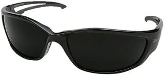 Edge Eyewear TSK-XL216 Kazbek XL Polarized Safety Glasses, Black with Smoke Lens