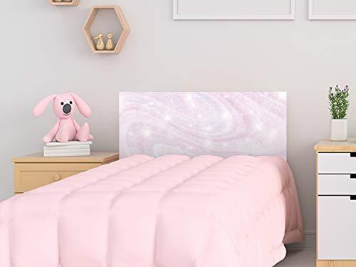 Cabecero Cama PVC Infantil Galaxia Rosa 100x60cm | Disponible en Varias Medidas | Cabecero Ligero, Elegante, Resistente y Económico