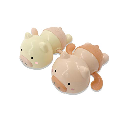 NIWWIN Cute Cartoon Animal Pig Classic Baby Water Toy Infantil Swim Pig Wound-up Bañera de plástico Juguetes Piscina Baño Regalo Niños Playa Baño Juguetes