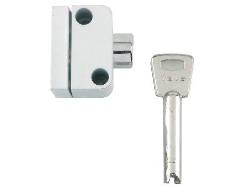 Yale Locks 8K102 Raamslot met drukknop, kijkverpakking, wit