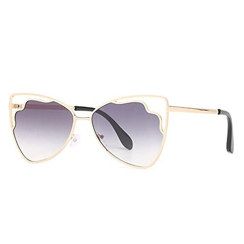 LEERIAN Polarizador Masculino y Femenino UV400 Filtro Anti-Ultravioleta, Gafas de Sol al Aire Libre de Metal de Moda para Conducir/Pesca/Ciclismo/de Compras/Gafas de Golf Deportes,B