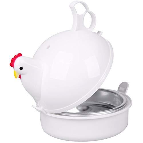 LOVEHOUGE Hervidor De Huevos con Forma De Pollo,Hervidor De Huevos para Microondas,Cazadores Furtivos,Solo 8 Minutos para Huevos Duros O Blandos