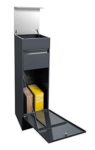 frabox Design Paketkasten Namur anthrazit/edelstahl - 3