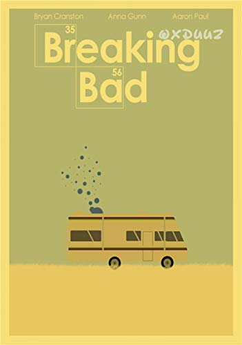 Canvas Prints,TV Series Breaking Bad Retro Poster Boys Room,Bar Restaurant Picture Living Room Bedroom Wall Art Mural 50X70Cm Sin Marco,-A1485