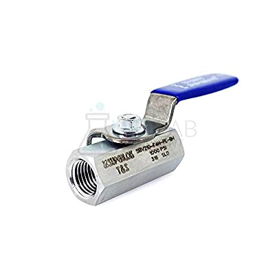 "Superlok 1/4"" FNPT 210 Series Ball Valve - 316SS -65°C to 21°C at 1000PSI from USA Lab"