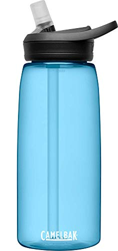 CamelBak eddy+ BPA Free Water Bottle, 32 oz,True Blue, 1L