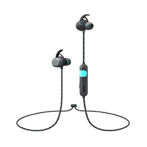 AKG ワイヤレス スポーツヘッドホン N200A Bluetooth 4.2 IPX7 AAC SBC 対応 AKGN200ABT (ブラック)