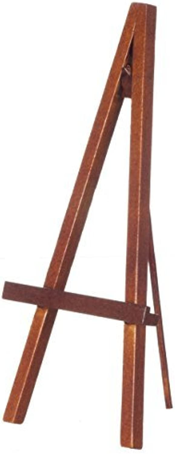 Dollhouse Artist Easel Picture Holder, Walnut by Town Square Miniatures