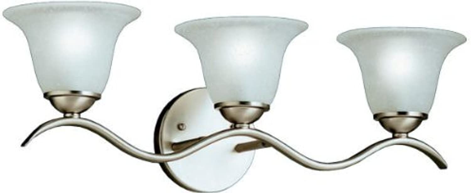 Kichler 6323NI Dover Bath 3-Light, Brushed Nickel