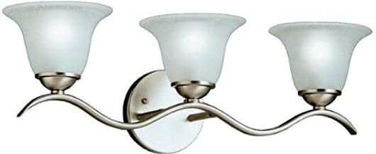 Chrome with Frosted Glass Shade Lite Source Inc Lite Source LS-16783C//FRO Dover 3-Lite Vanity Wall Lamp