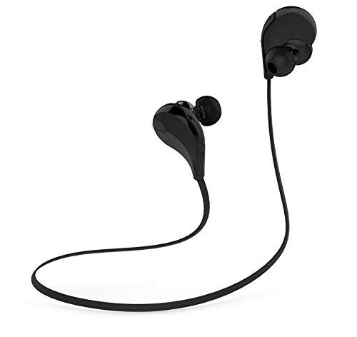 Toysdone Wireless Headphones Stereo Earbuds Wireless Sport Earphones for Running with Mic (6 Hours Play Time, IPX4 Sweatproof, Secure Ear Hooks Design)-Black