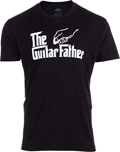 The Guitar Father | Funny Music Player Musician Pick Humor Men Women Joke T-Shirt-(Adult,2XL) Black