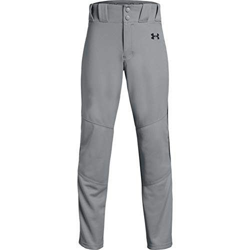 Under Armour Boys' Utility Relaxed Piped Baseball Pants , Baseball Gray (080)/Black , Youth X-Large