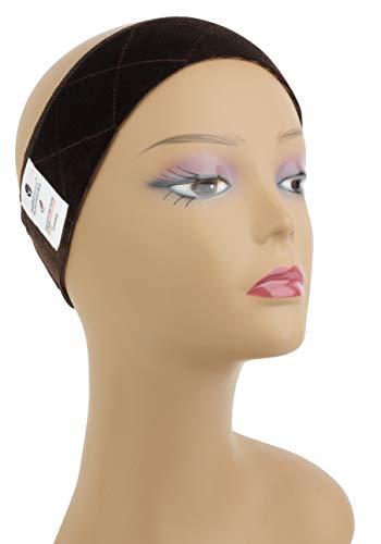 MainBasics Velvet Wig Grip Band Adjustable Wig Comfort Band, Brown