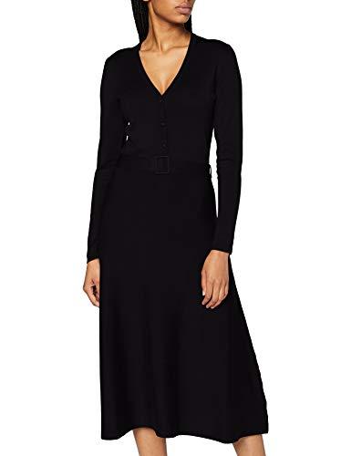 Esprit 090eo1e304 Vestido, 001/Negro, S para Mujer