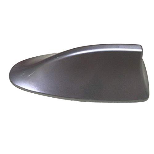 WEQQ Decoración de automóvil Aleta de tiburón Antena Especial Techo de automóvil Pasta de modificación de Cola (Plata)