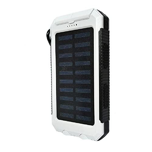 Carregador solar portátil de 20.000 mAh para uso ao ar livre com bateria de reserva externa para acampamento com luz de LED à prova d'água, pacote de bateria de reserva externa para acampamento