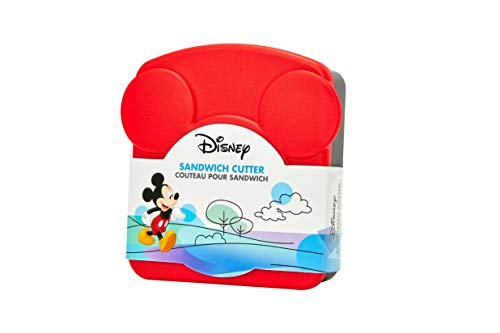 Disney Mickey Mouse Sandwich Crust & Cookie Cutter With Plastic Storage Container Set - Fun Lunches, Snacks & Baking - Kids & Adult Fans Love Iconic Shaped Treats - Stainless Steel & Plastic Materials