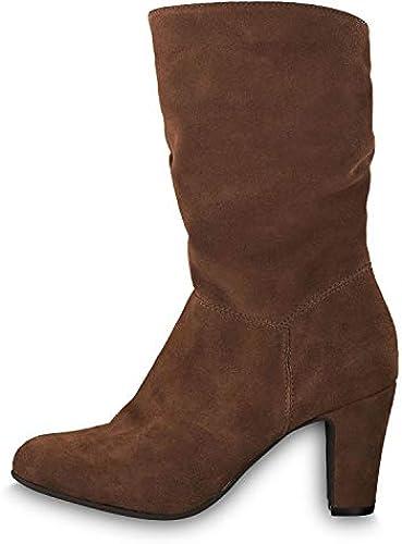 Tamaris 25743-31 Damen modischer Stiefel Stiefel Stiefel Veloursleder Textilfutter 80-mm-Absatz  10 tage rückkehr