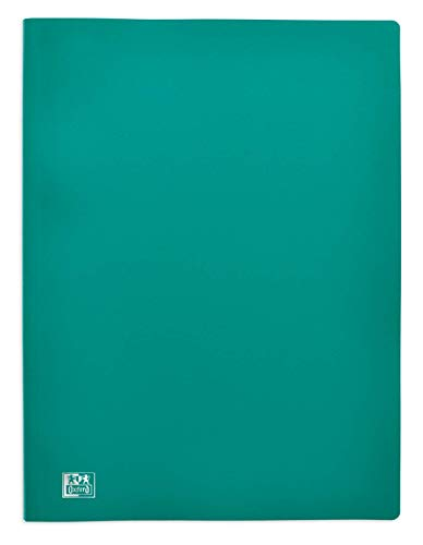 OXFORD Protège-Documents Initial A4 60 vues / 30 Pochettes Couverture Polypro Vert
