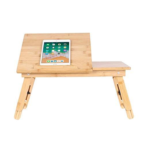 HYY-YY Laptop-Schreibtisch aus Holz, mit klappbaren Beinen, Arbeitszimmertisch für Bett, Zuhause, Büro, Bett, Sofa, Boden (Farbe: Natur, Größe: 49,5 x 30 x 29 cm)
