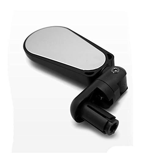 Madeinely Fietsspiegel, gemonteerde fietsspiegel met ledverlichting, 360 graden instelstang, voor racefietsen voor mountainbikes, fietsen