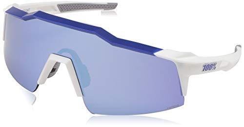 Gafas Bici 100% SPEEDCRAFT SL Matte White-Metal Blue/Hiper Blue MULTIL. Mirror