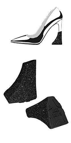 HEELBOPPS Stardust BLACK - Stiletto Styling Schmuck Absatzschoner Pfennigabsatz Schuhe high-heel protector
