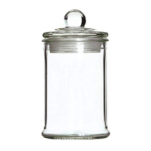 XLGJCWQY Bpa Free Glass Jar Container, luftdichter Behälter mit Glasdeckeln, durchsichtige Küchenkanister für Tee oder Süßigkeiten (Farbe: 2500 ml)