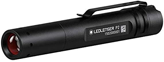 Ledlenser P2 Professional LED Key-Ring Torch 25m Beam range and 7hr runtime (Black) - Test-It Pack, 8402TP