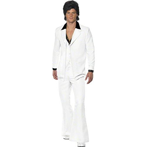 NET TOYS Traje de Fiebre del sábado Noche de los años 70-80 Disfraz John Travolta Vestuario Disco