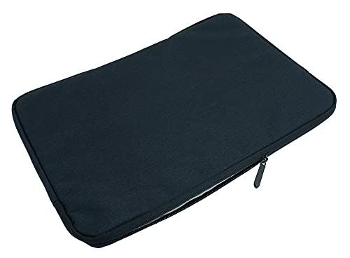 SYSTEM-S Funda acolchada para portátil y tablet de 12,9', color negro