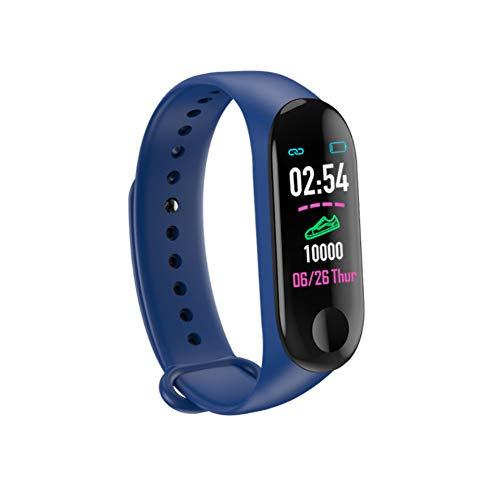 WANGLAI Fitness Tracker HR, Monitor de Ritmo cardíaco con Monitor de Actividad, Contador de Pasos a Prueba de Agua Inteligente, Contador de calorías, Reloj podómetro