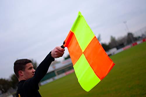 POWERSHOT Linienrichter/Schiedsrichter Fahnen - 2erSet - Linesman Flag - 100% WETTERFEST - Extrem leicht