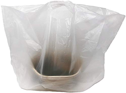 "Reli. Take Out/to Go Bags (500 Count Bulk) (Medium 20""L x 9.5""W x 12""H) White Carry Out Shopping Bag, Die Cut Handle, Square Bottom, Reusable - Food Service, Restaurant Bags, Catering, Delivery Bags"