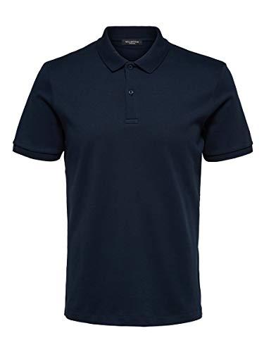 SELECTED HOMME Male Poloshirt Regular Fit LDark Sapphire