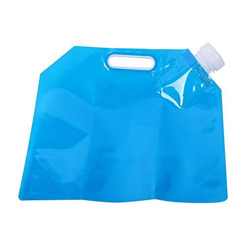 V GEBY Tragbarer zusammenklappbarer Wassersack Wasserspeicher für Camping im Freien Wandern Blau 3L