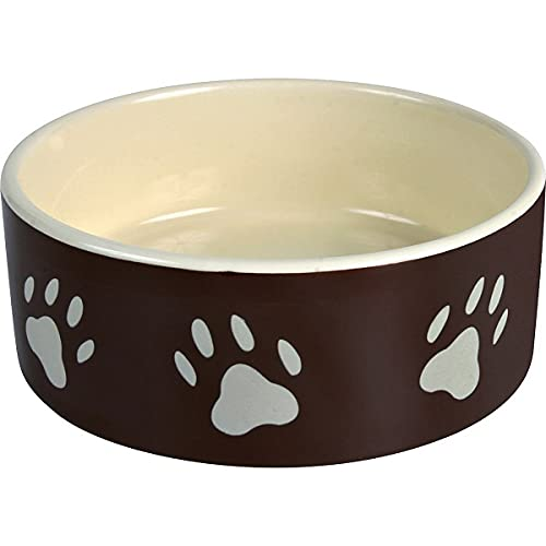 Trixie 24790 Napf-Set Eat on Feet, Keramik, 2 × 0,3 l/ø12 cm, rot/schwarz/creme