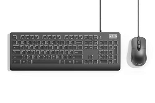 AZIO KM535 - Computer Keyboard and Mouse Combo with Antimicrobial Antibacterial Protection and IP66 Waterproof Rating
