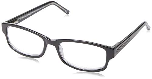 Foster Grant unisex adult James Multifocus Reading Glasses, Black/Transparent, 53 mm US
