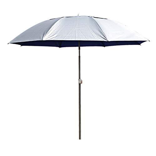 Playa Jardín Paraguas Parasol 2m, Plegable manivela de inclinación Parasol Garden Paraguas de protección Solar bastón de Aluminio a Prueba de Agua de Protección Solar for Jardín Playa Pesca