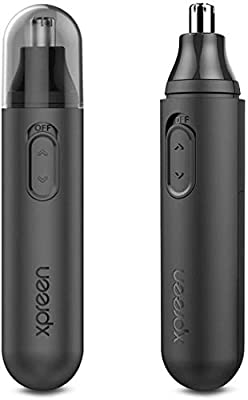 Nose Trimmer, Xpreen Electric Nose Ear Hair Trimmer High-Speed Rotating Ear Trimmer Stainless Steel Rotation Blade Eyebrow Trimmer for Men and Women from Xpreen