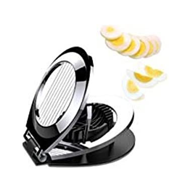 Egg Slicer, aphqua Stainless Steel Wire Egg Cuter Heavy Duty Slicer For Hard Boiled Eggs with 3 Slicing Styles Cutter Silver