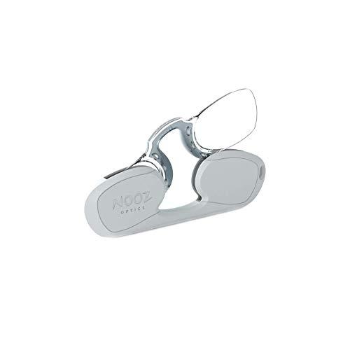 Nooz - Bügellose Lesebrille Unisex - Silber +2,5 Rechteckig - Immer griffbereit
