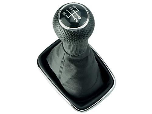 DoLED Schaltsack Schaltknauf Chrom Rahmen schwarze Naht 5 Gang für 23 mm Schaltgestänge kompatibel für Bora & Golf 4 1,4/1,6/1,9 Liter Benziner & 1,9 SDI und viele mehr Beschreibung lesen