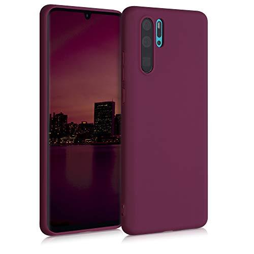 kwmobile Custodia Compatibile con Huawei P30 PRO - Cover in Silicone TPU - Back Case per Smartphone - Protezione Gommata Viola Bordeaux