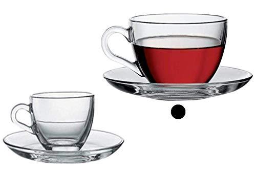 6 piezas de cristal taza de Cappuccino ideal para capuchinos que sirven, chocolate caliente y té